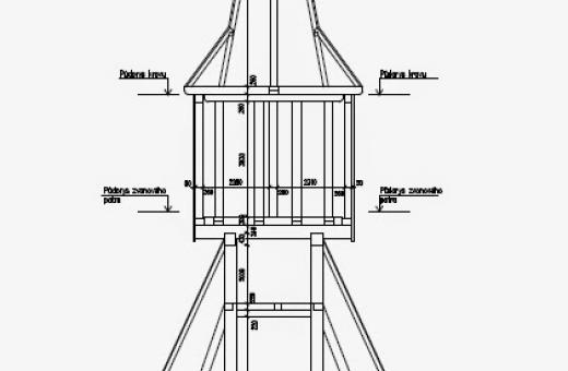 Technický výkres zvonice