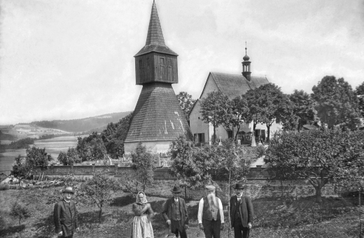 Zvonice ve Rtyni v Podkrkonoší